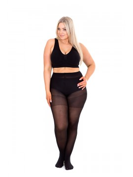 Plus Size Opaque 60 Denier Full Tights in Navy