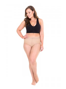 Plus Size Sheer 20 Denier Full Tights in Glow