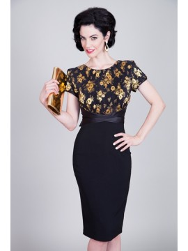 Vintage Splendor Pencil Dress