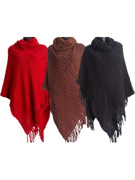 Thick Knitted Poncho