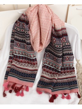 Stripe Print Scarf in Pink