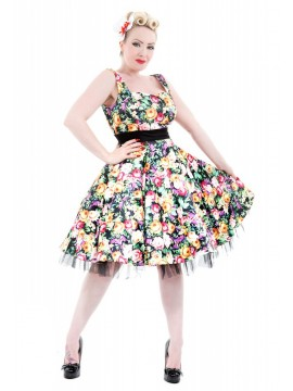 Vintage Style Floral Swing Dress
