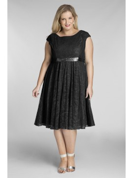 Amy Lace Dress in Black