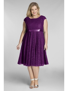 Amy Lace Dress in Violet