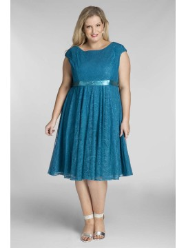 Amy Lace Dress in Teal