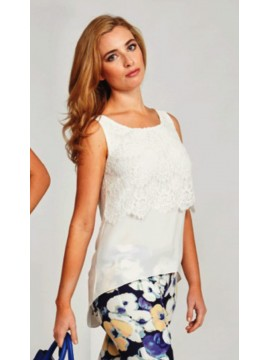 White Lace Overlay Camisole
