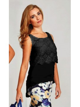 Black Lace Overlay Camisole