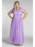 All Star Special Alyce Lace Evening Dress with Beading in Lilac