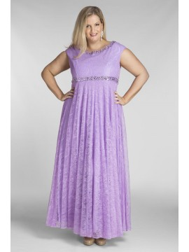 Alyce Lace Evening Dress with Beading in Lilac
