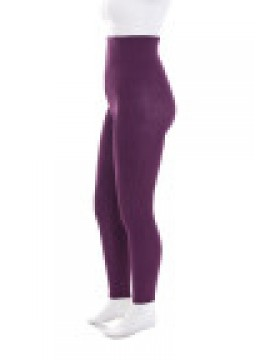 Plus Size Opaque 100 Denier Footless Tights in Wildberry