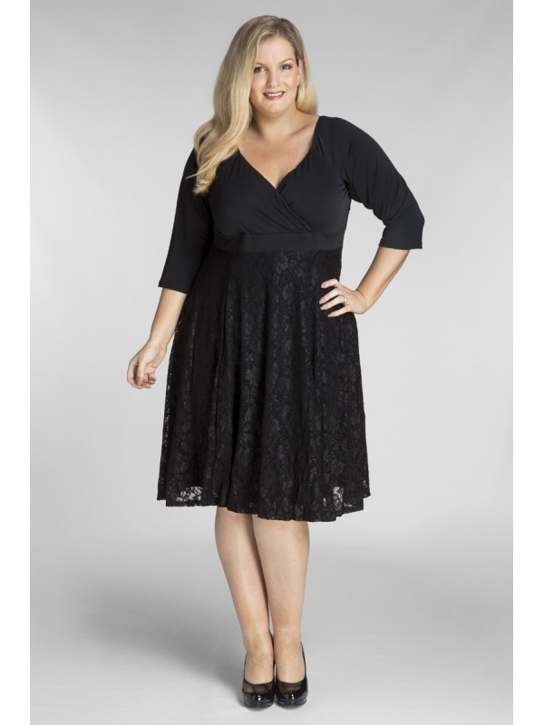 Plus size jersey and lace dress for Wedding guest dresses size 20