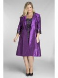 Special Occasion Sequin Lace Dress with Jacket in Purple