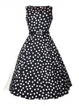 Vintage Audrey Dress in Polka Dot