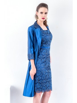 BJC Special Occasion Dress & Jacket in Navy Lace