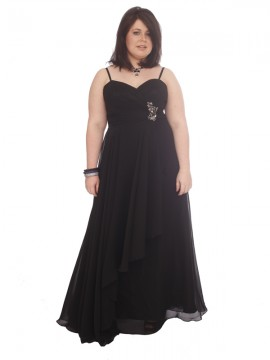 Waterfall Chiffon Evening Dress Size 12-14