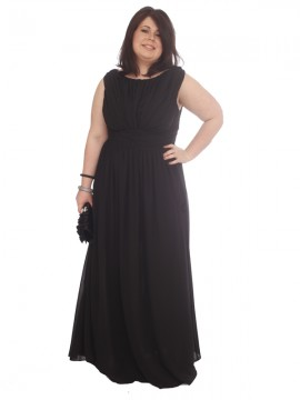 Formal/Evening Dress in Black Chiffon