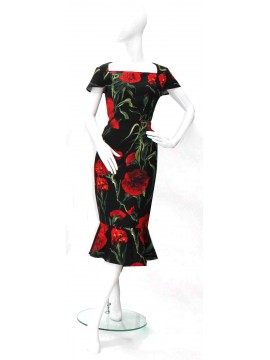 Lovers Red Carnation Dress