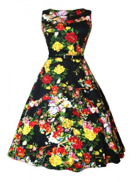 Vintage Audrey Dress in Floral