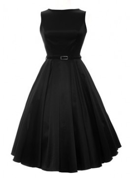 Vintage Audrey Hepburn Dress in Black