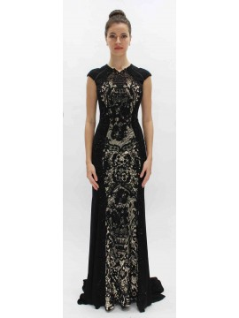 Lounge Black Lace Evening Dress