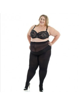 Plus Size Opaque 100 Denier Full Tights in Black