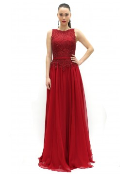 Special Occasion Lounge Sparkling Red Carpet Evening Dress