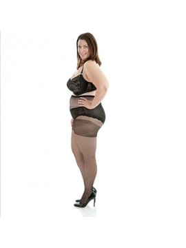 Plus Size Sheer 20 Denier Full Tights in Black