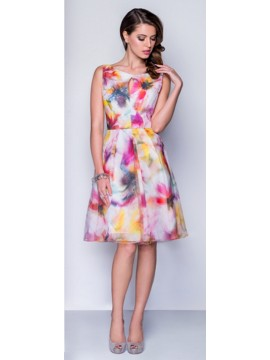 Lounge Printed Organza Special Occasion Dress