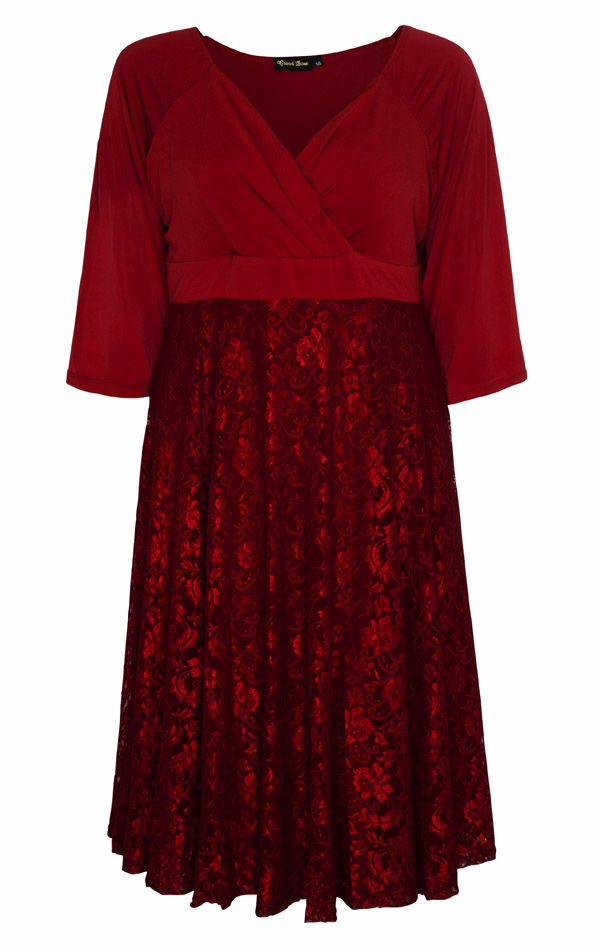 acac177dd35 All Star Special Katherine Plus Size Dress in Ruby Lace