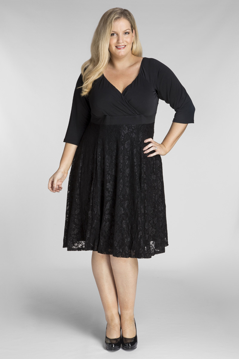All Star Special Katherine Plus Size Dress in Black Lace 3f2383b91487